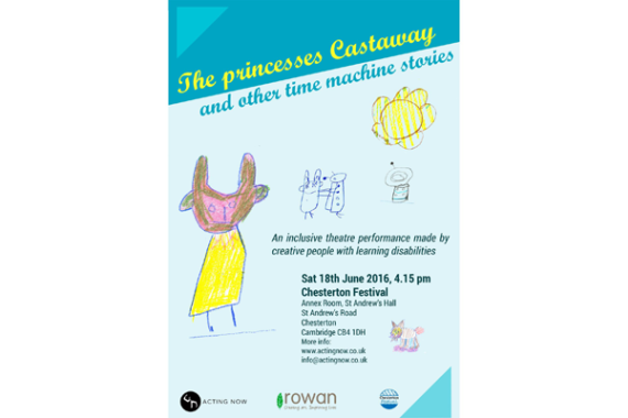 A poster showing hand-drawn illustrations to promote a theatre performance made by people with learning disabilities